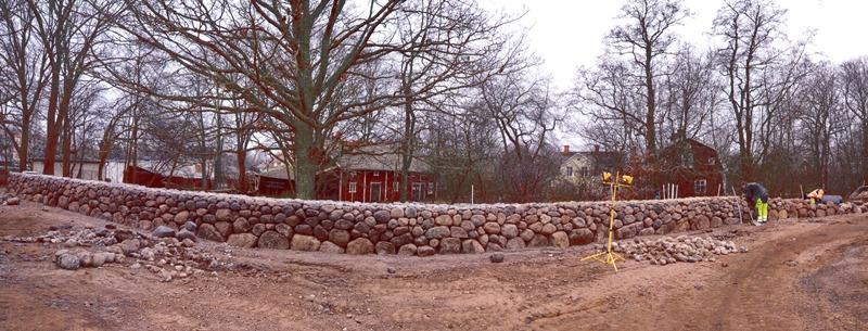 gammaldags stenmur